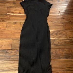 Free people black midi dress